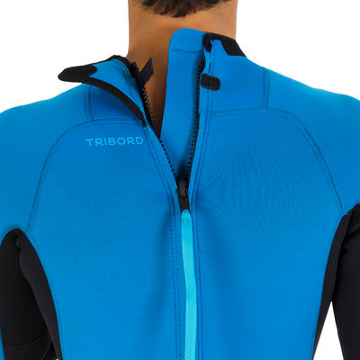 חליפת גלישה לגברים 100 2/2 מ_QUOTE_מ ניאופרן - כחול