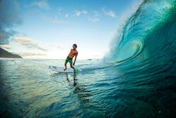 """Surfboard Bic 7'3"""" met pad voor achterste voet - 729454"""