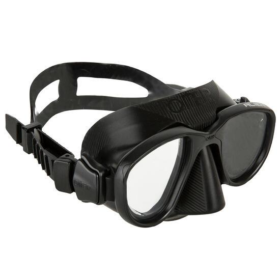 Duikbril Alien voor harpoenvissen en vrijduiken, zwart - 730358