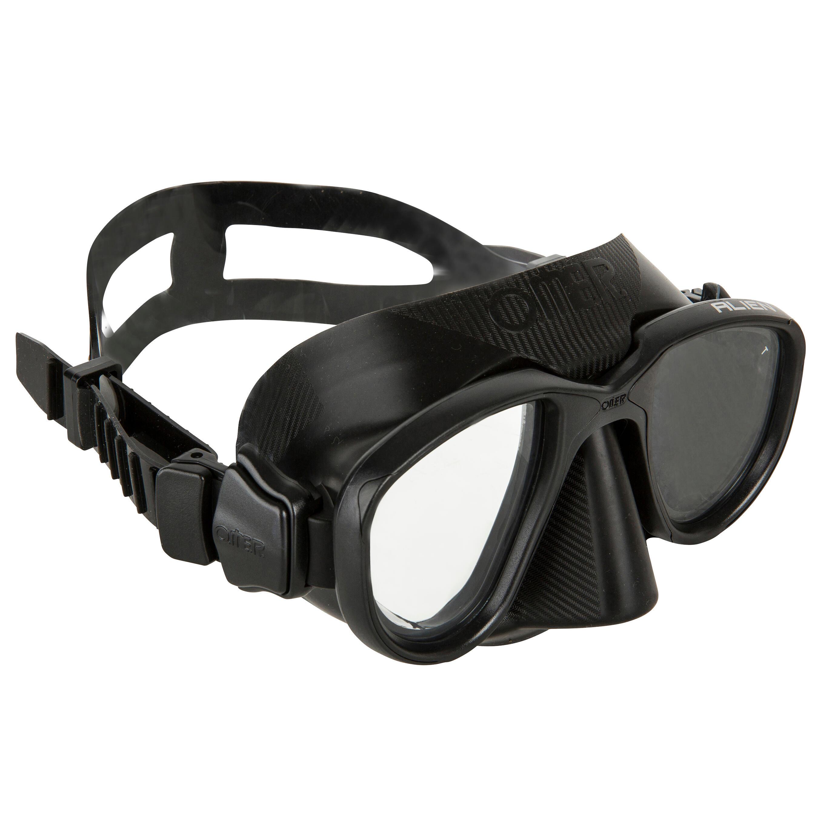 Omer Duikbril Alien zwart voor freediving kopen? Leest dit eerst: Duikmasker en snorkel Duikmasker met korting