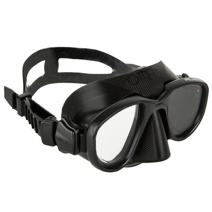 Tauchmaske Apnoe Alien schwarz