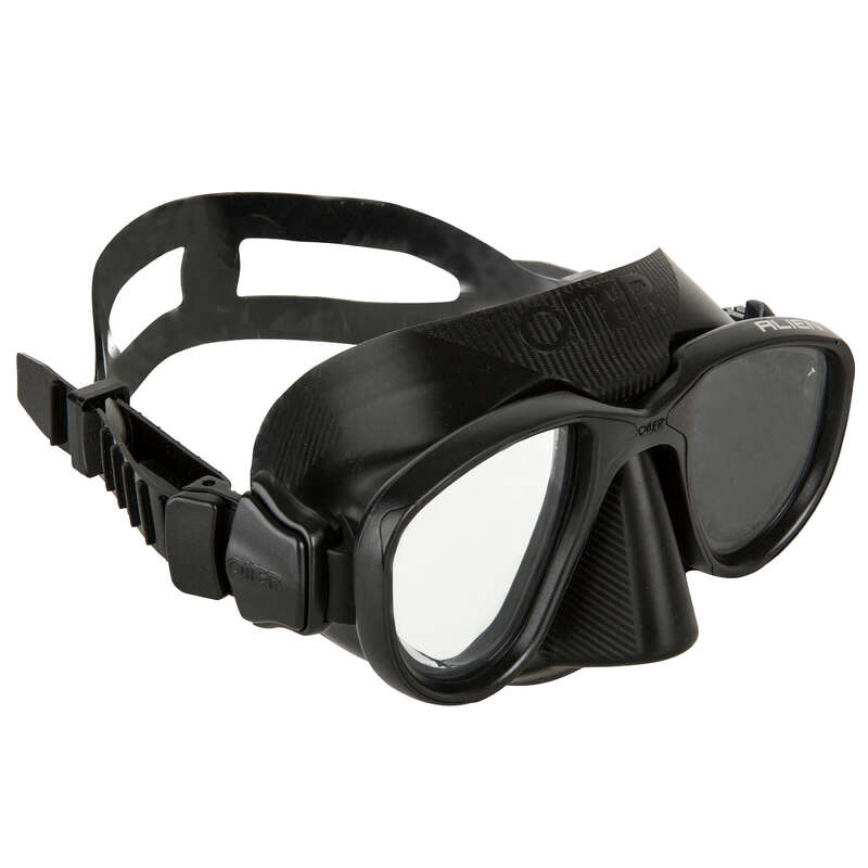 SPEARFISHING FINS, MASKS, SNORKELS Scuba Diving - Alien snorkeling mask OMER - Scuba Diving Equipment