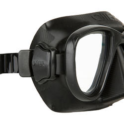 Duikbril Alien voor harpoenvissen en vrijduiken, zwart - 730362
