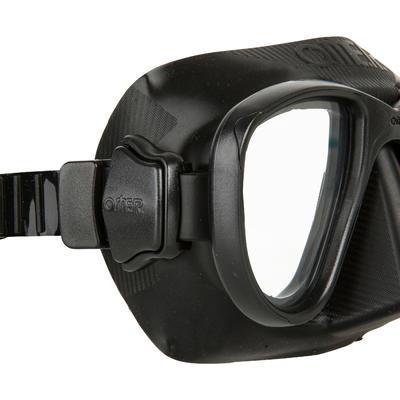 Masque de chasse sous-marine en apnée Alien noir