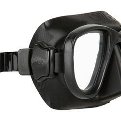 Duikbril Alien zwart voor freediving