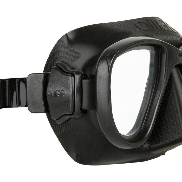 Masque de chasse et d'apnée Alien noir - 730362