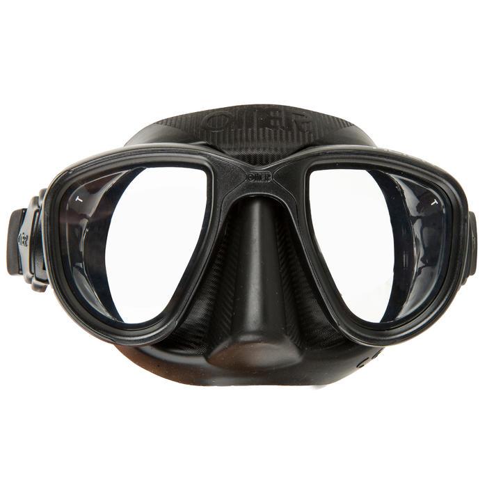 Duikbril Alien zwart voor harpoenvissen en vrijduiken