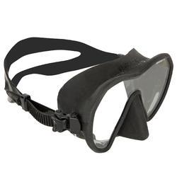 Duikbril Maxilux S voor harpoenvissers die vrijduiken zwart
