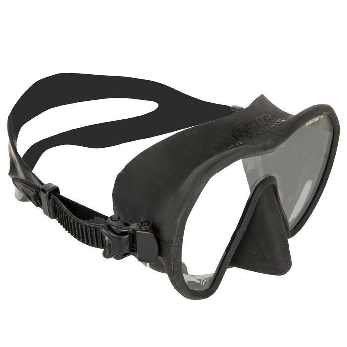 Duikbril voor harpoenvissen en vrijduiken Maxlux S zwart