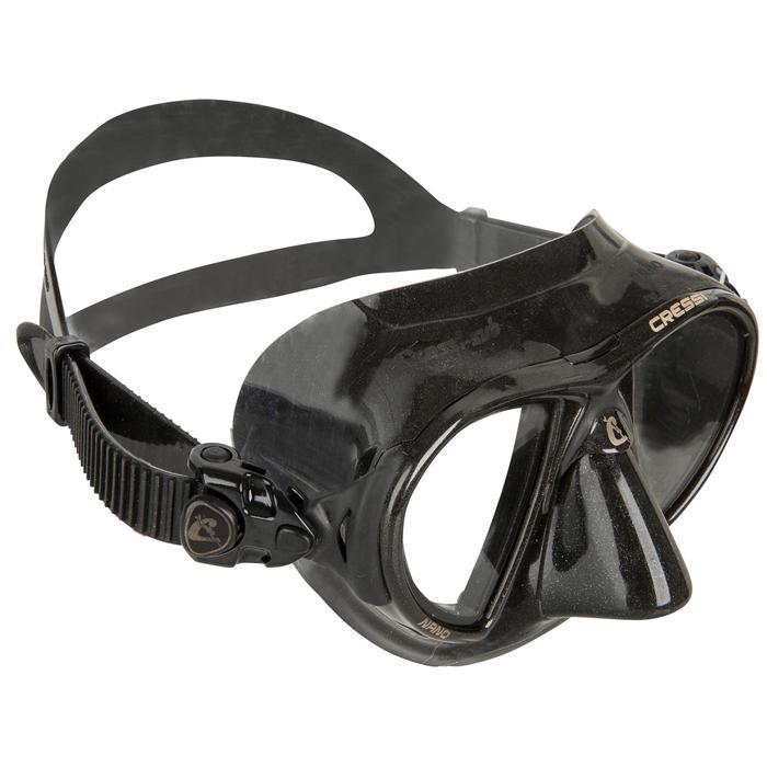 Tauchmaske Apnoe Nano Black schwarz