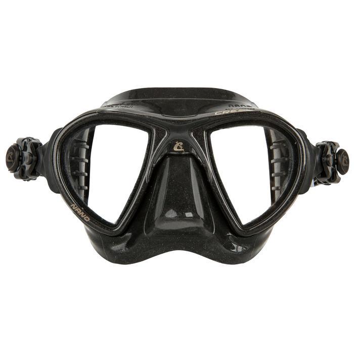Duikbril Nano Black voor harpoenvissen en vrijduiken zwart