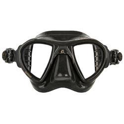 Masque de chasse sous-marine en apnée Nano Black