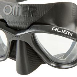 Duikbril Alien voor harpoenvissen en vrijduiken, zwart - 730403