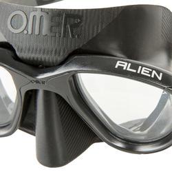 Duikbril voor freediving Alien zwart