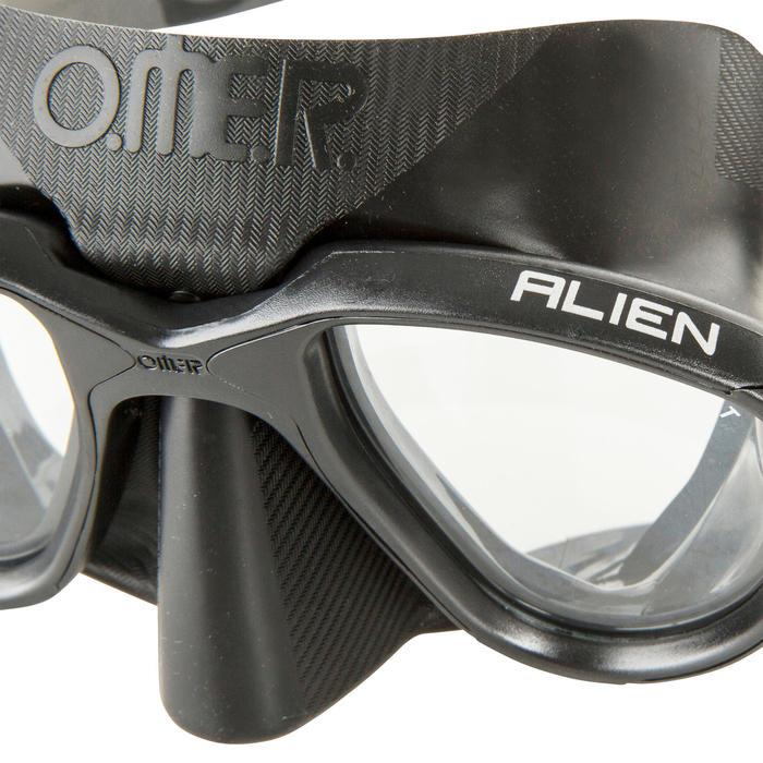Masque de chasse et d'apnée Alien noir - 730403