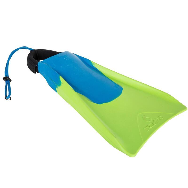 Pinne bodyboard 500 verde-azzurro + leash