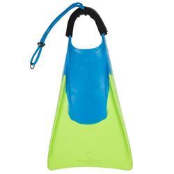 趴板蛙鞋500(附腳繩)-綠色/藍色