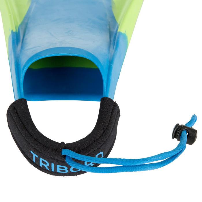 Zwemvliezen bodyboard 500 groen blauw met leash