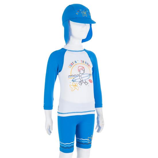 Uv-werende set van pet, kuitbroek en shirt voor peuters Surf - 730737