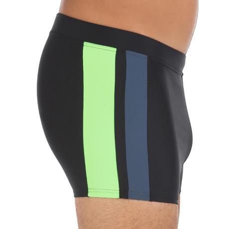 maillot de bain homme boxer b active yoke noir vert nabaiji. Black Bedroom Furniture Sets. Home Design Ideas