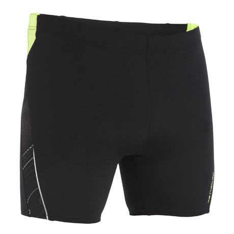 maillot de bain natation homme boxer long 500 allfrek noir. Black Bedroom Furniture Sets. Home Design Ideas