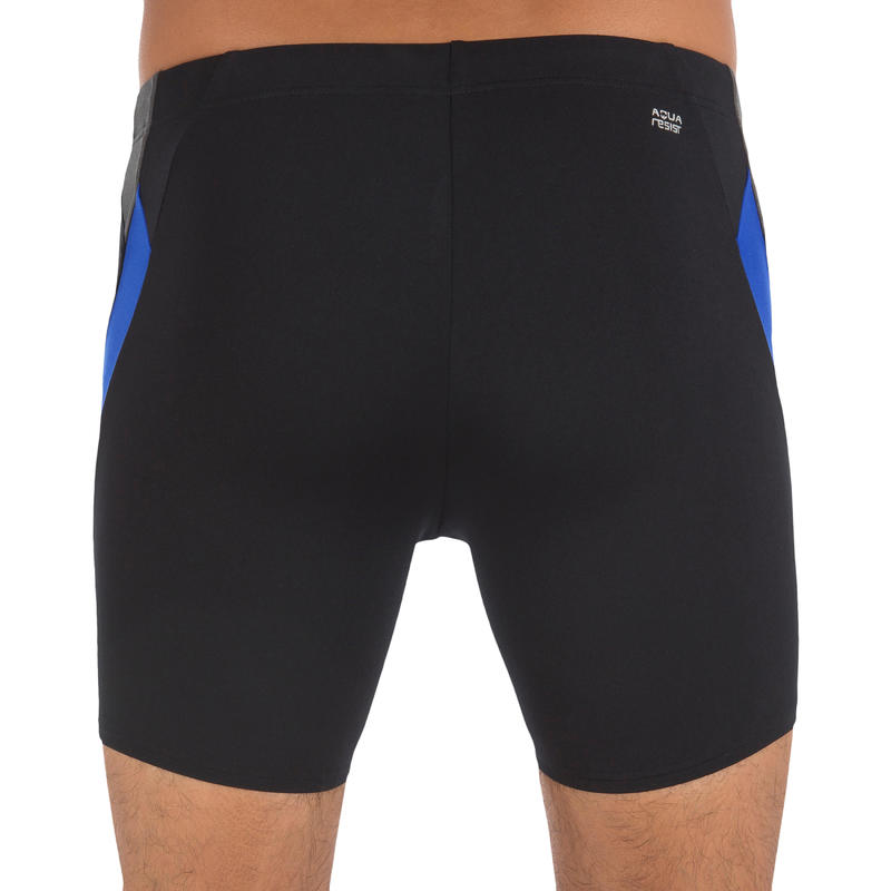 Men's Swim Boxers 500 - Black Blue