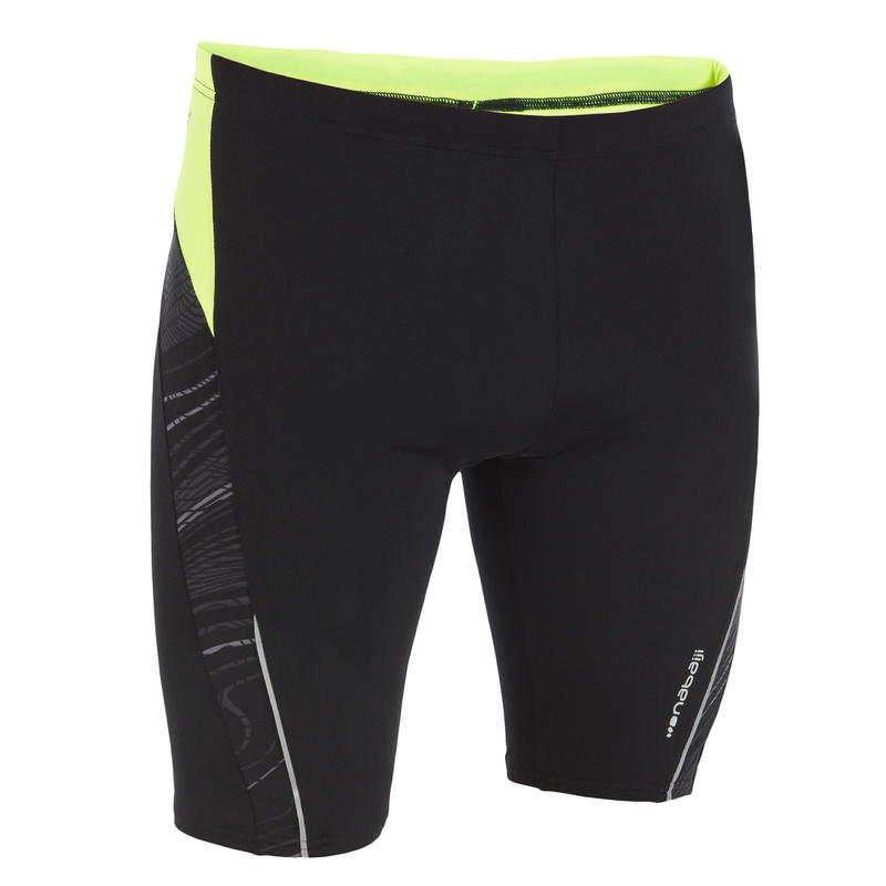 500 FIRST MEN'S JAMMER SHORTS - BLACK ALLFREK YELLOW