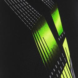 500 MEN'S LONG BOXER PRINT SWIM SHORTS - ADIL BLACK/YELLOW