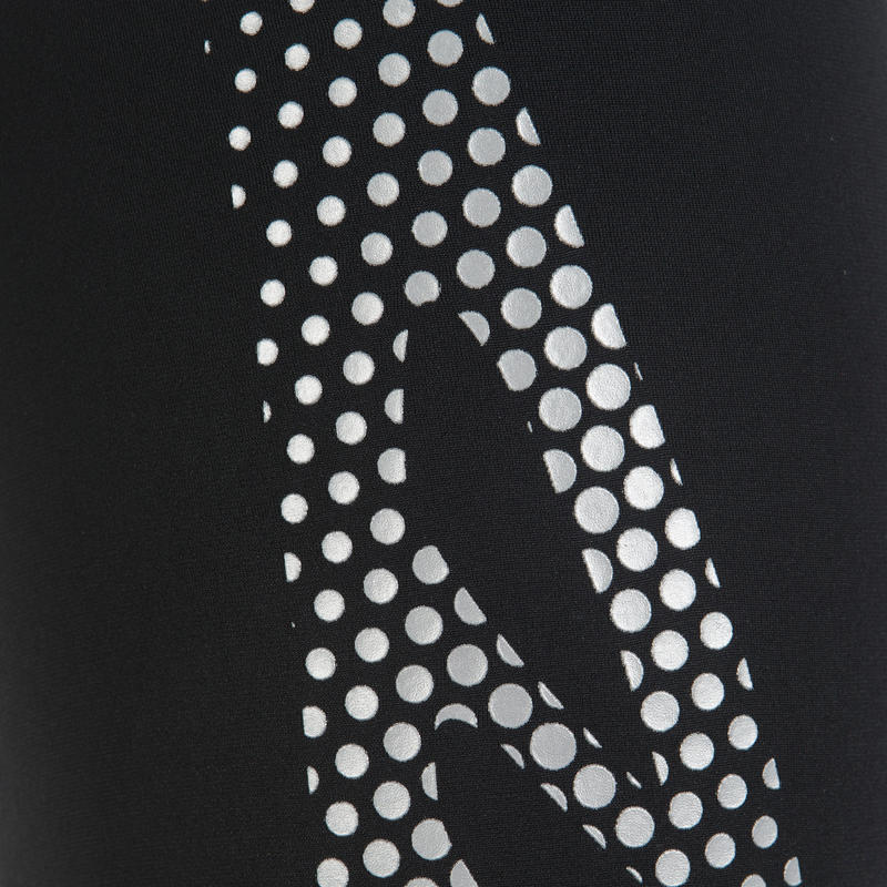 Men's swimming jammer - black silver