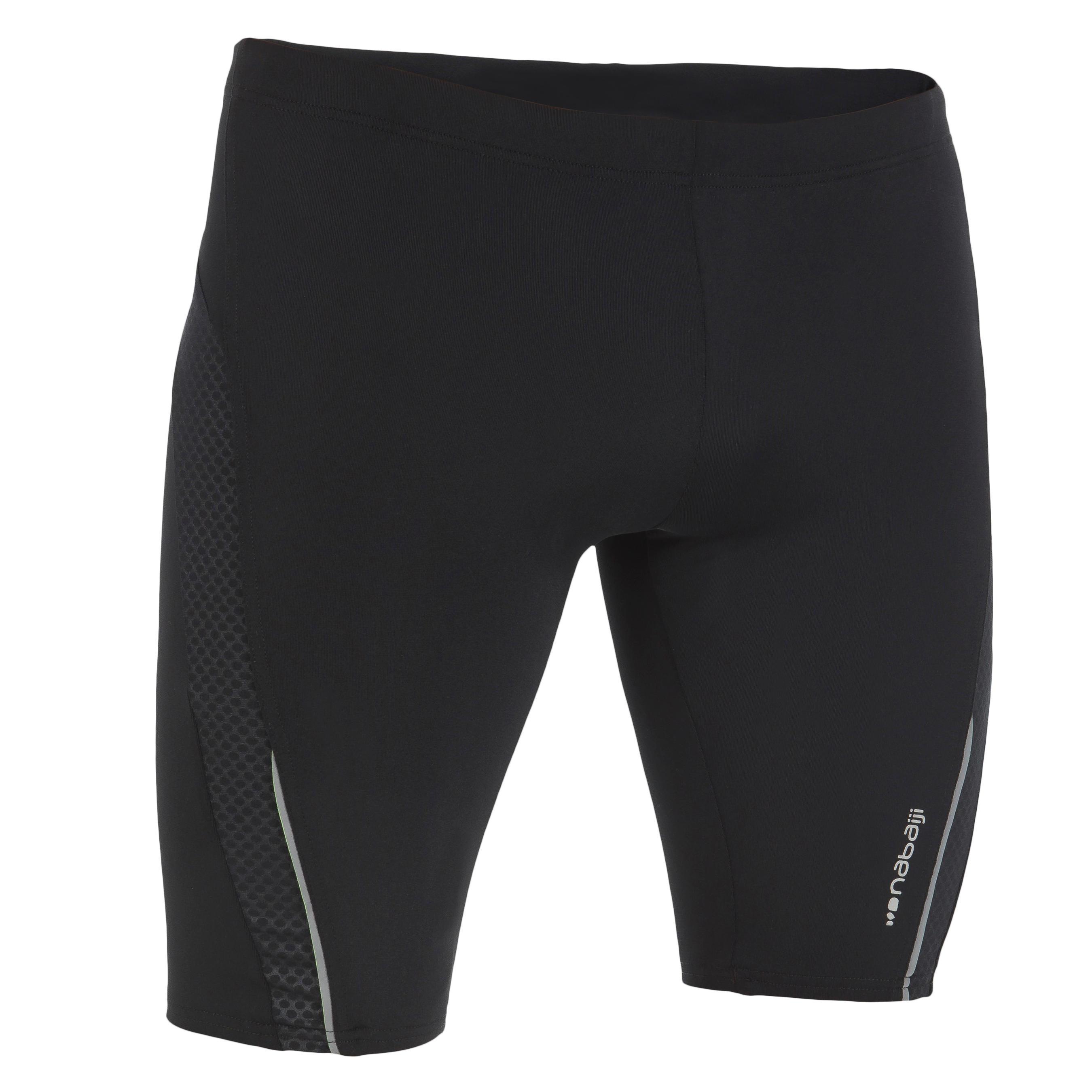 B-First Men's Jammer Swim Shorts - Black Dot