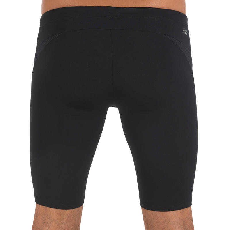 Men Swimming jammer shorts - Black dotted