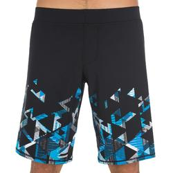 MAILLOT DE BAIN HOMME SWIMSHORT 190 LONG STRIL BLEU