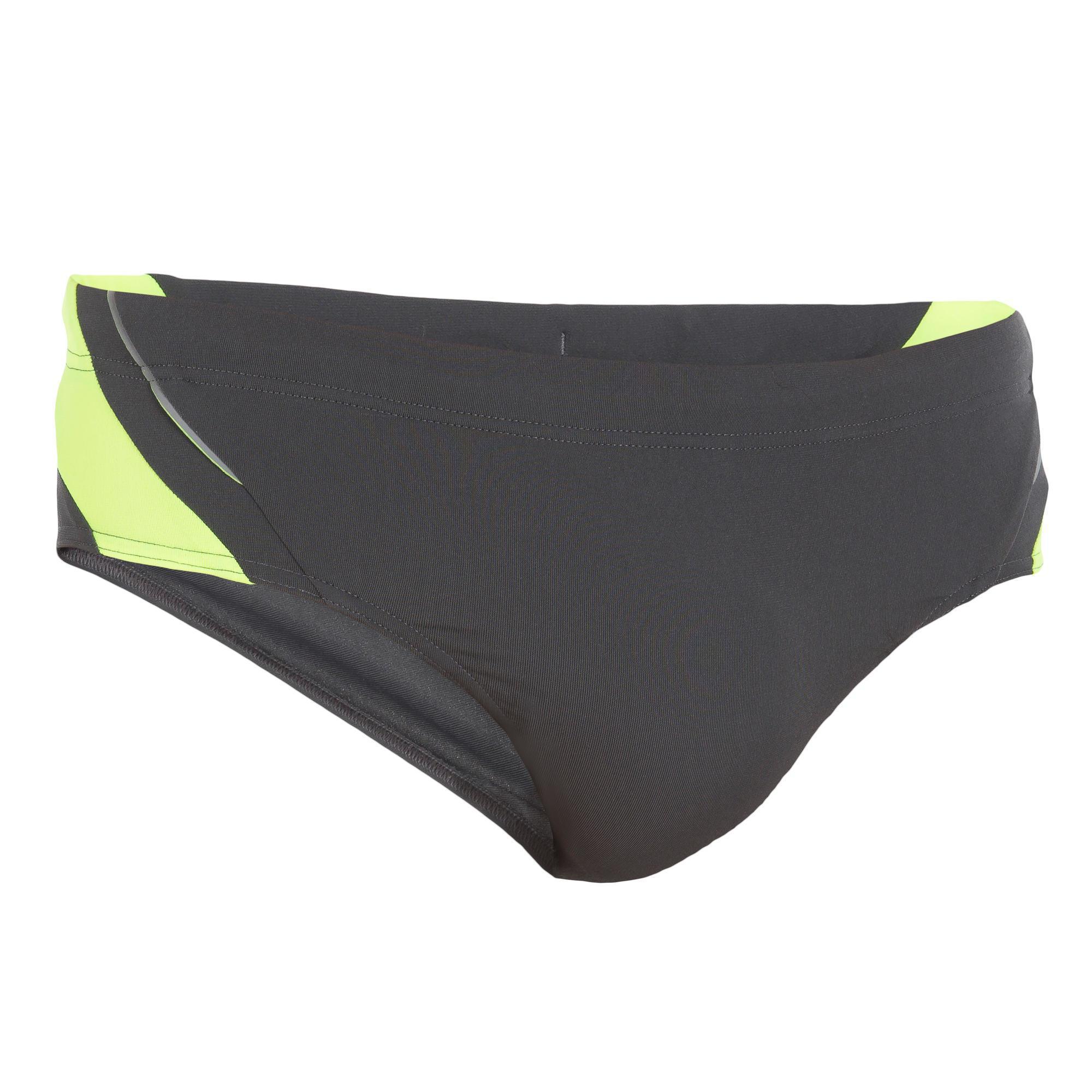 Maillot de bain homme slip b sporty yoke gris italie nabaiji - Decathlon costumi piscina ...