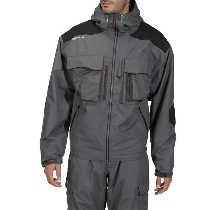 Veste pêche pluie-5 grey - 731624