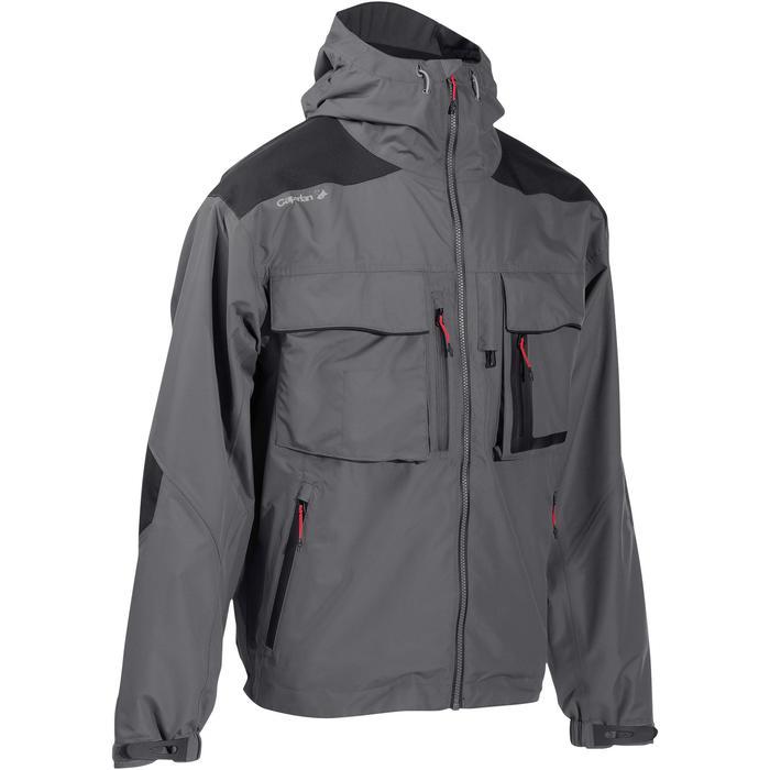 Veste pêche pluie-5 grey - 731645