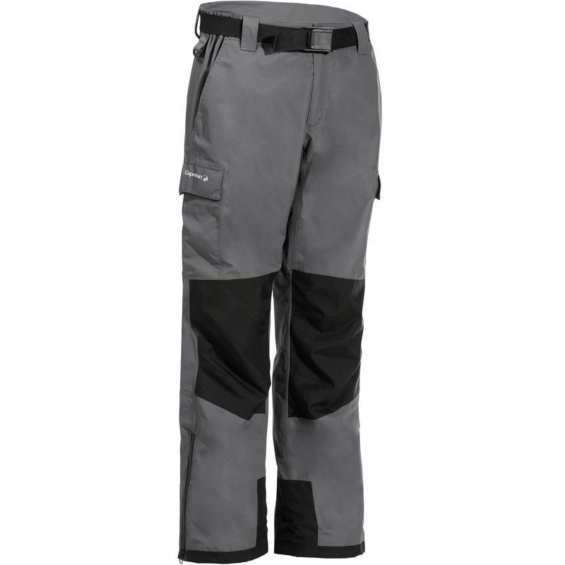 comparar el precio estilo popular nuevo lanzamiento Textil del pescador - Pantalón impermeable de pesca Caperlan 500 DARK GREY