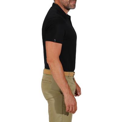Polo de golf homme manches courtes 100 temps tempéré noir