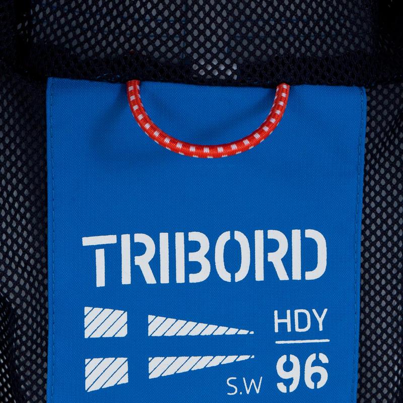 100 Kids' Waterproof Sailing Oilskin - Bright Blue