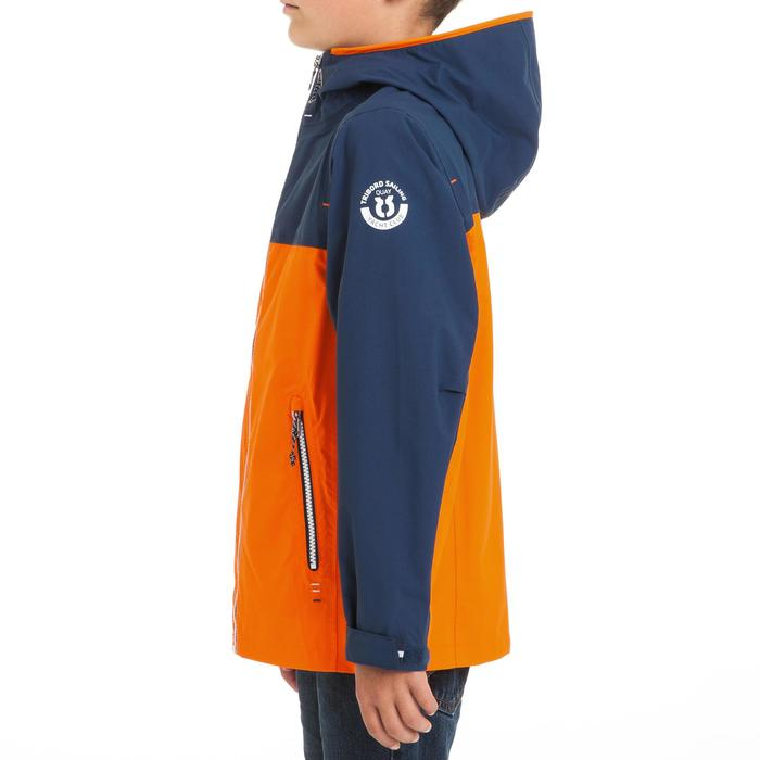 100 Kids' Waterproof Sailing Oilskin - Blue/Orange