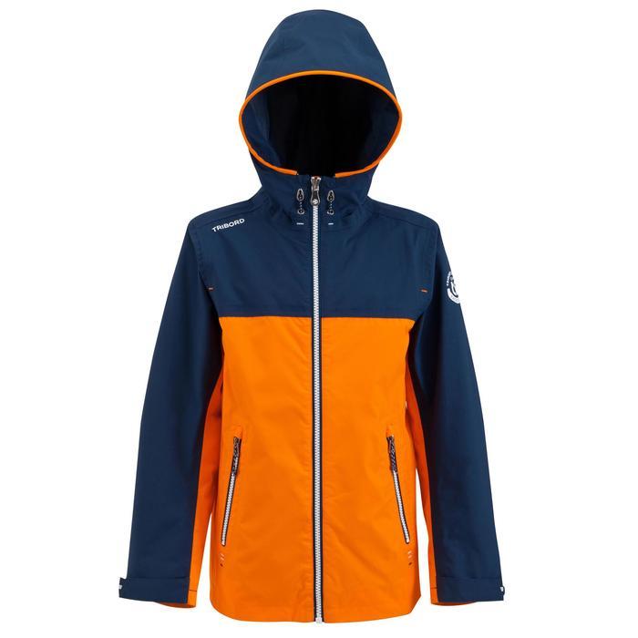 兒童款防水航海雨衣100-藍色/橘色