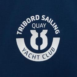 100 Kids' Waterproof Sailing Oilskin - Blue/Orange