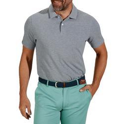 Polo de golf hombre manga corta 500 tiempo templado gris jaspeado