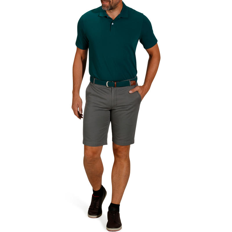 MEN'S GOLF POLO T-SHIRT 500 -DARK GREEN