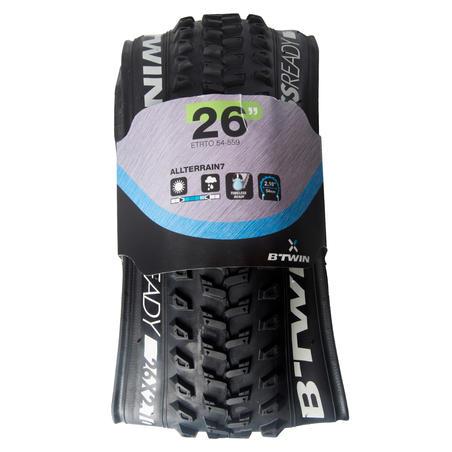 Pneu de vélo de montagne All Terrain 9 Speed 26 x 2,10 compatible sans tube