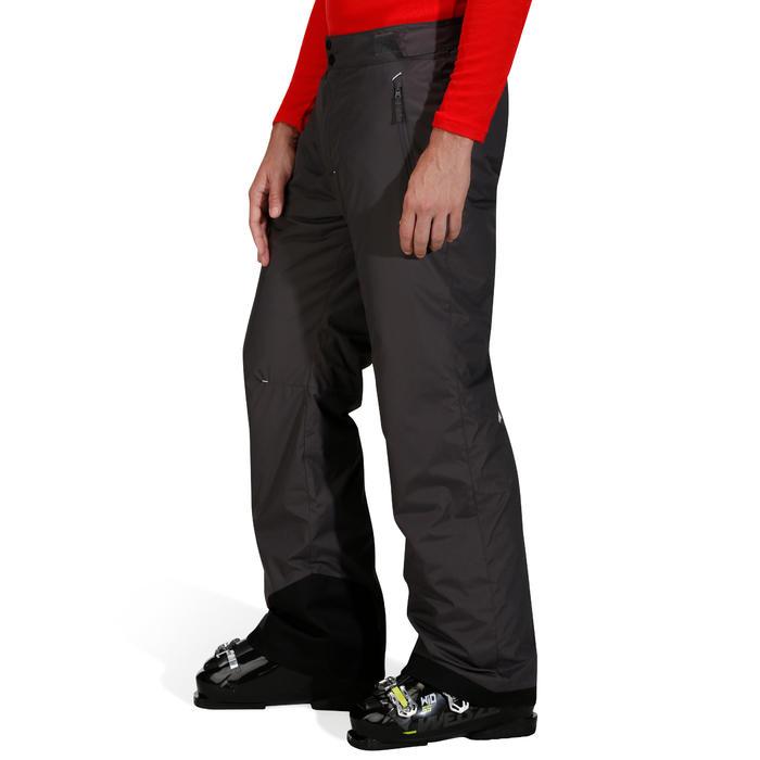 Heren skibroek voor pisteskiën SKI-P PA 100 grijs