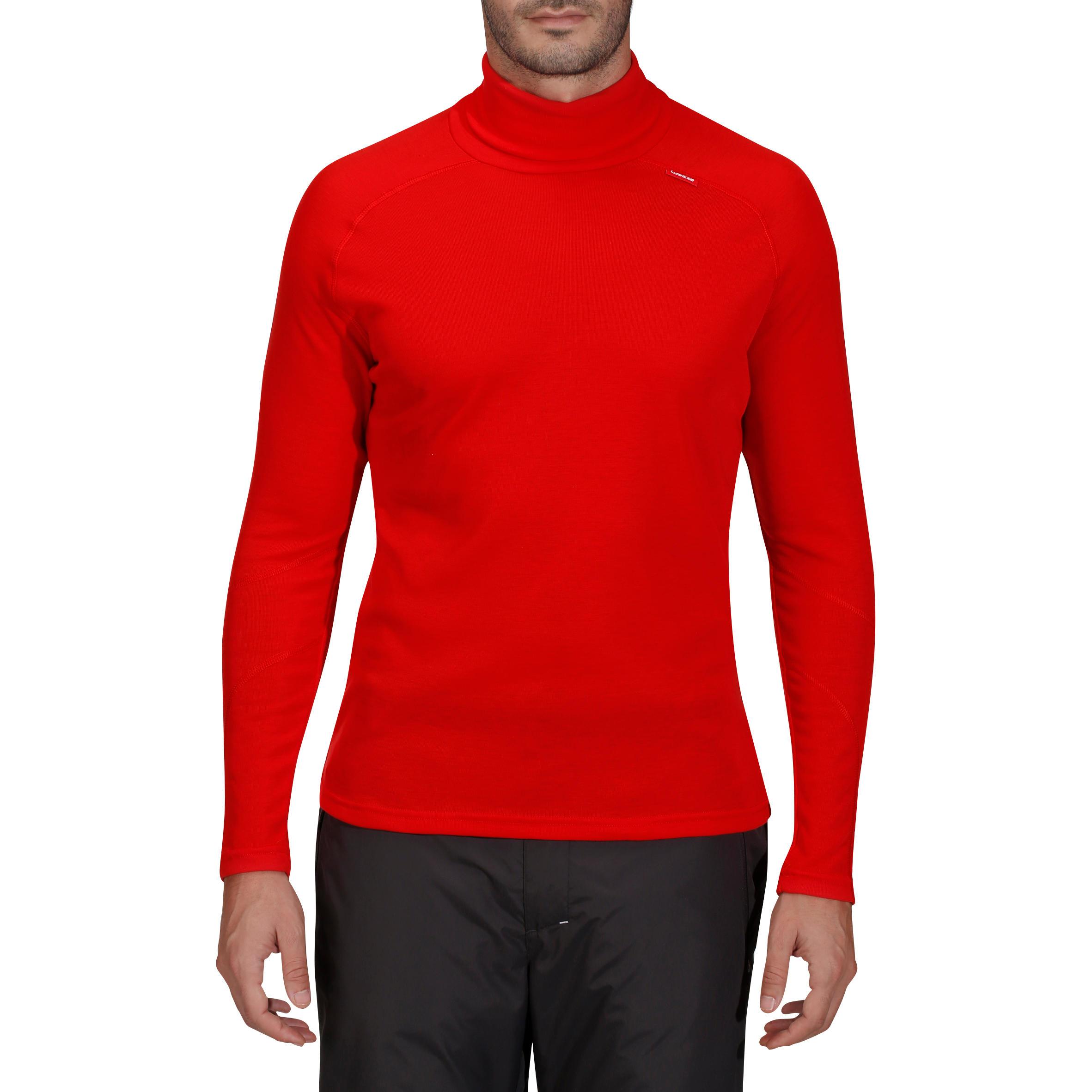 Sous Wed'ze Vêtement Col Homme Ski Roule Warm Simple Rouge vwnmNy08O