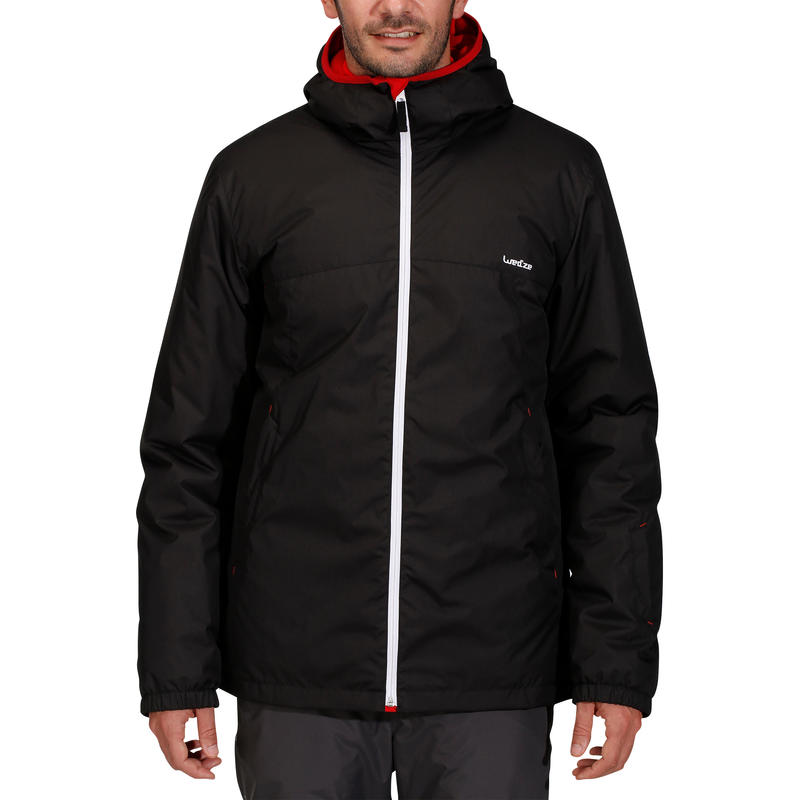 เสื้อแจ็คเก็ตผู้ชายสำหรับใส่เล่นสกีรุ่น 100 (สีดำ)