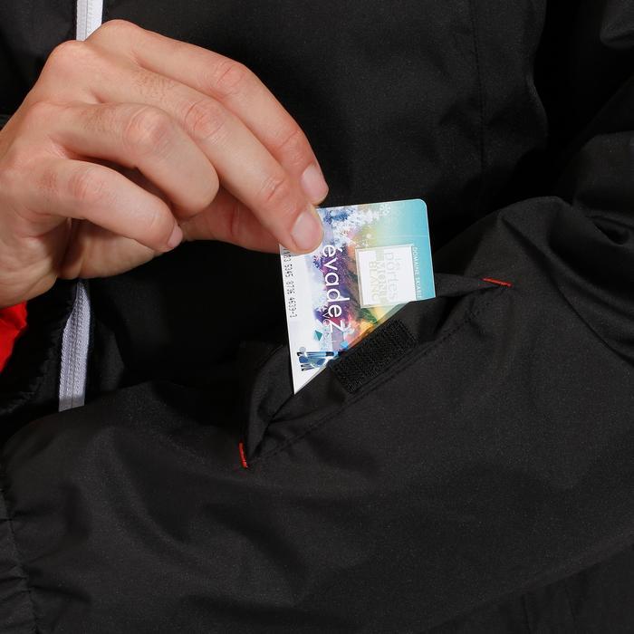 Heren ski-jas zwart voor pisteskiën 100