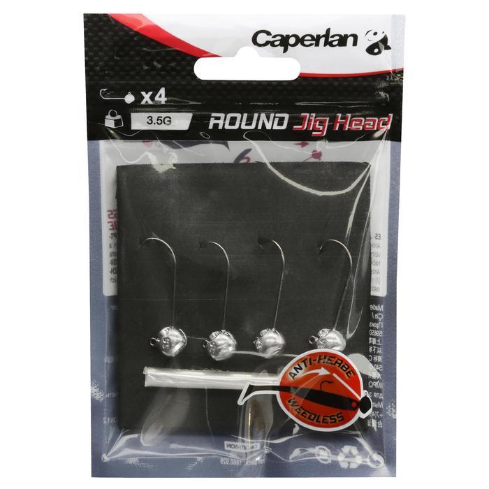 4入路亞釣魚圓型鉛頭鉤3.5 g
