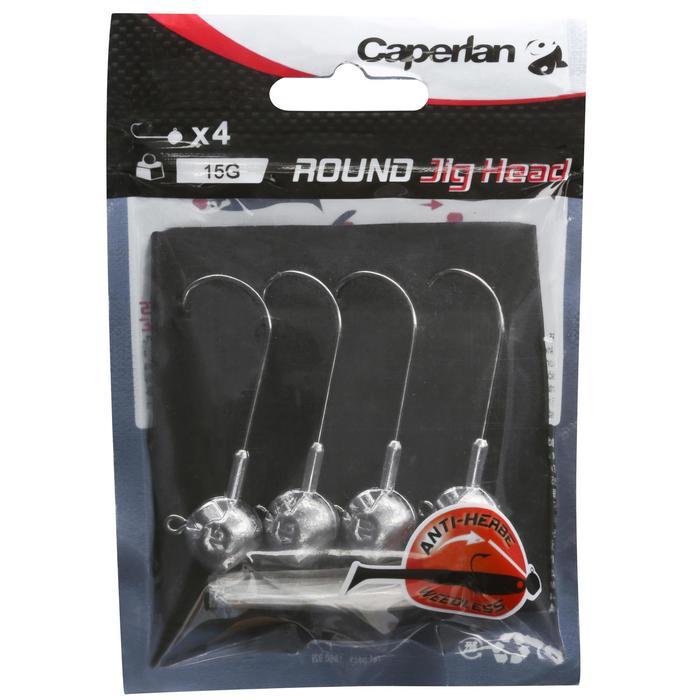 Bleikopf Jig Head ROUND Köderfischen 4 Stück 15 g